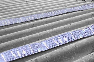 Como reparar laminas de asbesto